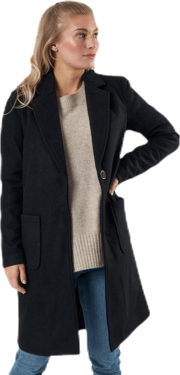 Olivia-Astrid Wool Coat  Otw Black