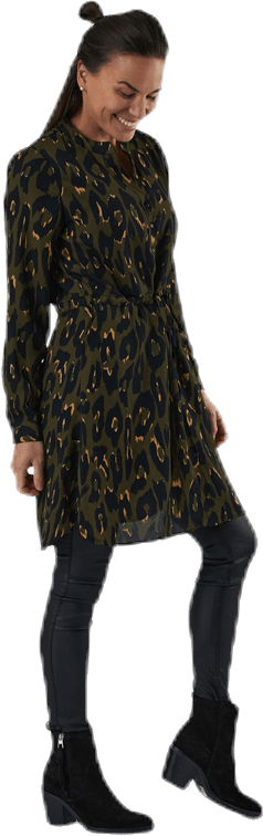 Cory L/S V-Neck Tunic Wvn Black