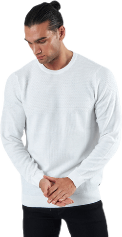 Blacamp Knit Structure Crew Neck White