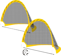 Folding Soccer Goal Yellow