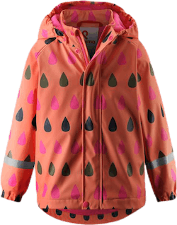Koski Fleece-Lined Raincoat Orange