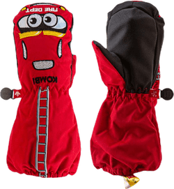 Car Family Child Mitten Red
