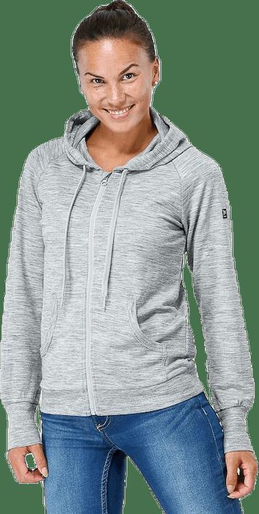 Essential Zip Hoodie Grey