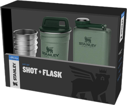 Adventure Shot + Flask Gift Set Green