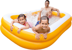 Mandarin Swim Center Family Pool Orange/White