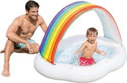 Rainbow Cloud Baby Pool Patterned
