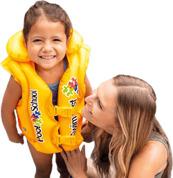 Deluxe Swim Vest Pool School Yellow