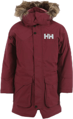 Isfjord Down Parka Jr Pink/Red