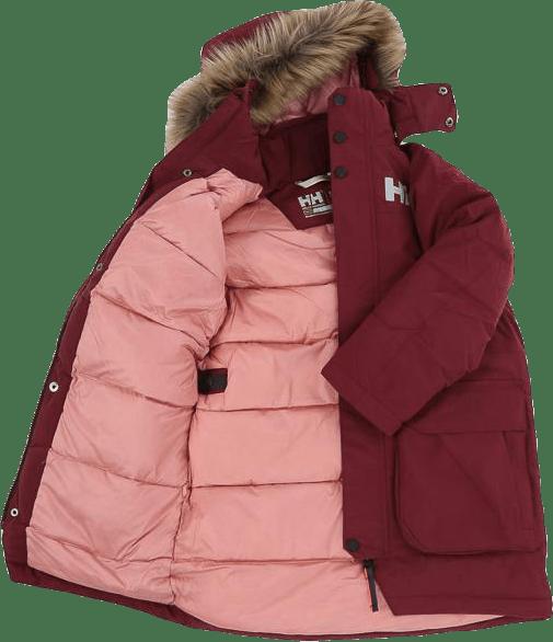 Isfjord Down Parka Jr Pink/Red