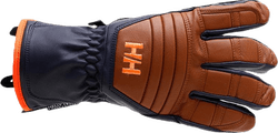 Ullr Leather HT Glove Blue/Brown