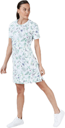 Malla Dress White/Green