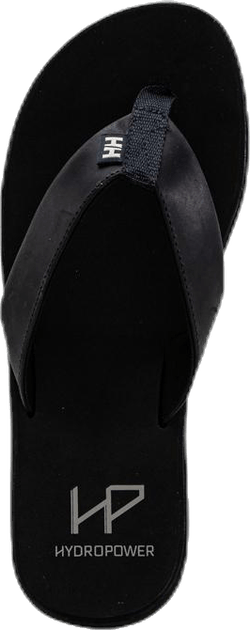 Seasand Leather Sandal Black