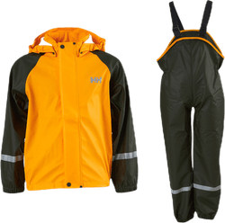 Kids Bergen PU Rainset Green/Yellow