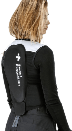 Back Protector Vest White/Black