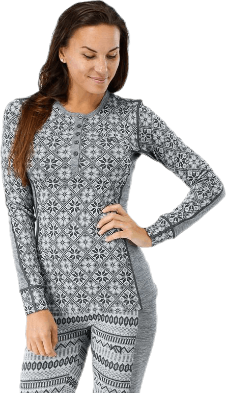 Rose Long Sleeve Shirt Grey