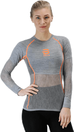 Airnet Wool Long Sleeve Orange/Grey