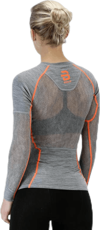 Airnet Wool Long Sleeve Orange/Grey