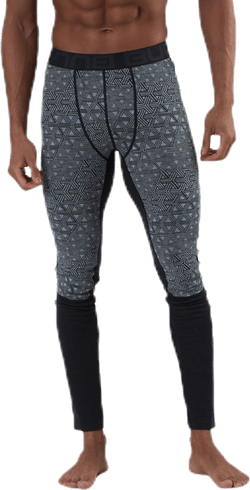 Geo Merino Wool Pants Grey