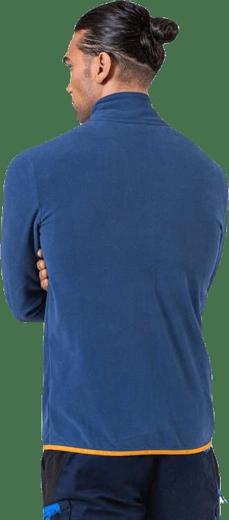 Fleece Jacket Blue/Orange
