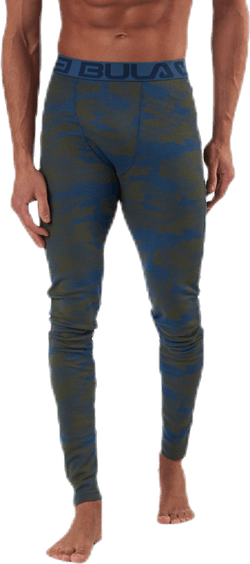 Camo Merino Wool Pants Blue/Green