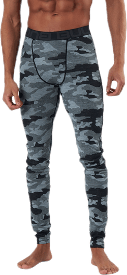 Camo Merino Wool Pants Black/Grey