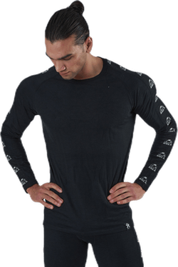 Tape Merino Wool Crew Black