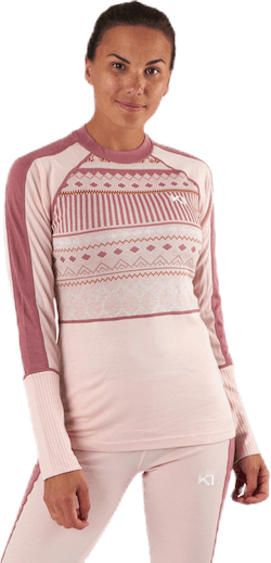 Perle Long Sleeve Shirt Pink