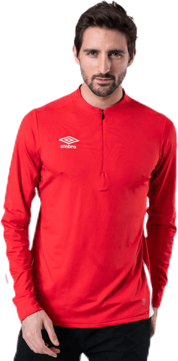 UX Elite Halfzip Top White/Red