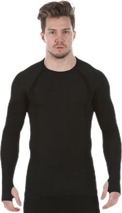 Wool Compression Shirt Black