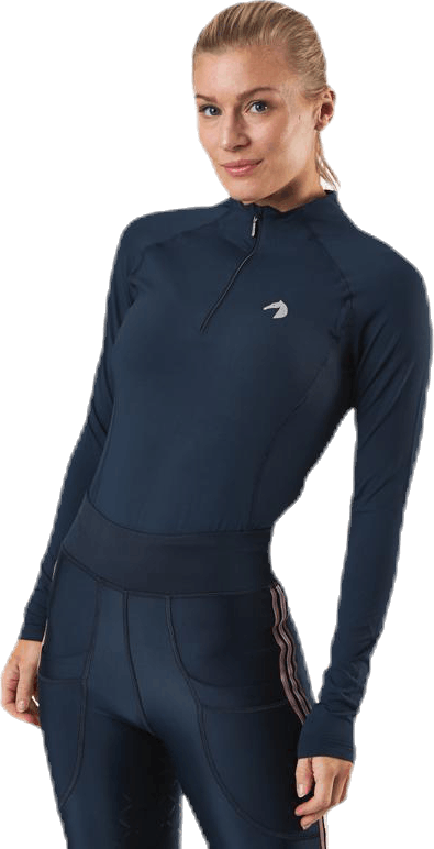 Malou Long Sleeve Tech Top Blue