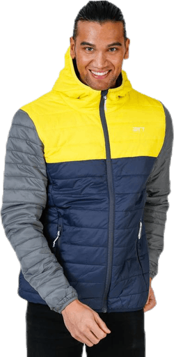 Vallerås Jacket Blue/Grey/Yellow