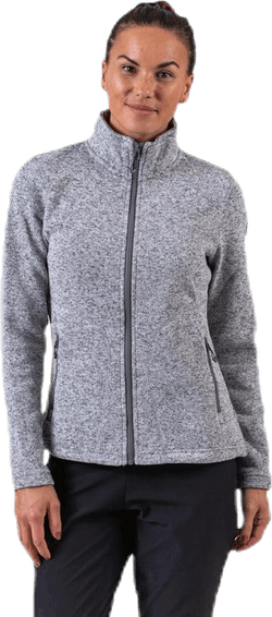 Paulina Melange Fleece Jacket Grey