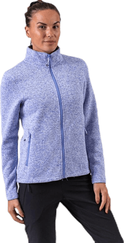 Paulina Melange Fleece Jacket Purple