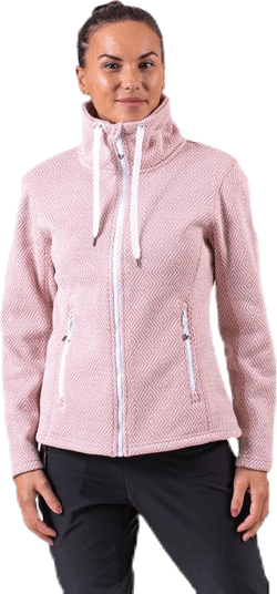 Freida Melange Fleece Jacket Pink