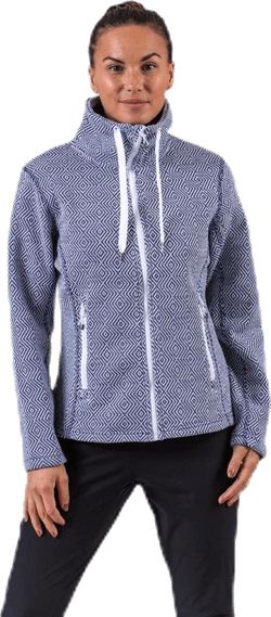Freida Melange Fleece Jacket Blue