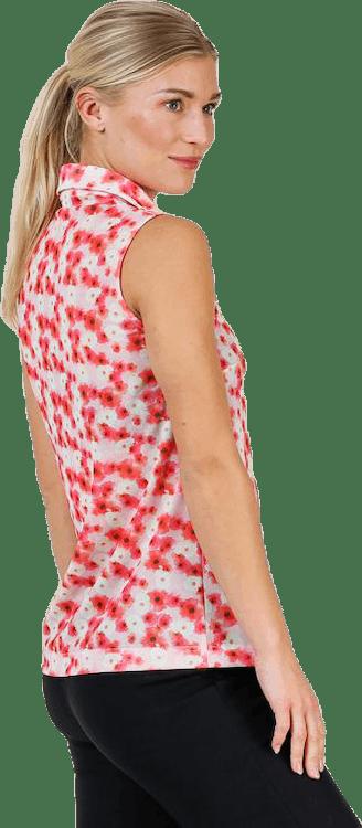 Tori Mesh SL Polo Shirt Pink