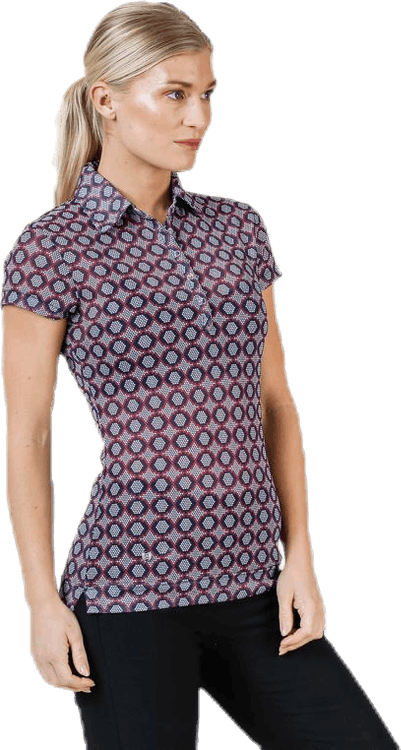 Moa Mesh Cap/S Polo Shirt Patterned
