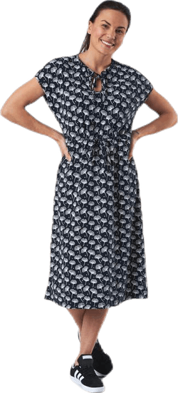 Fiona Dress Blue/Patterned