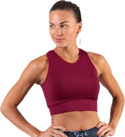 Seamless Crop Top Red