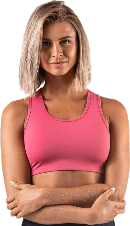 Compression Sports Bra C/D Pink