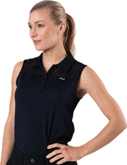 Miko Sleeveless Poloshirt Black