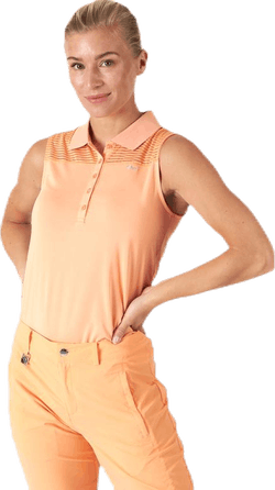Miko Sleeveless Poloshirt Orange