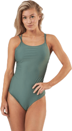 Strap Swimsuit Green