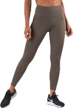 Kay High Waist Tights Brown/Beige