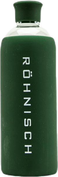 Glass Water Bottle Green