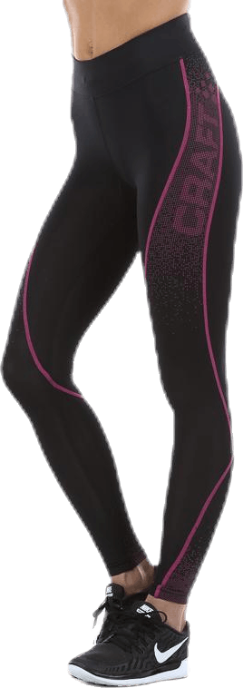Delta Compression Long Tight Pink/Black