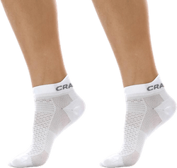 Cool Shaftless 2-Pack Sock White