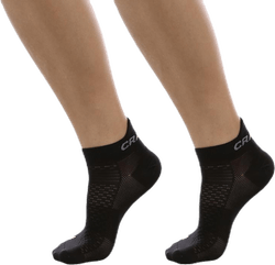 Cool Shaftless 2-Pack Sock Black