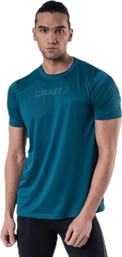 Core Essence SS Mesh Tee Blue