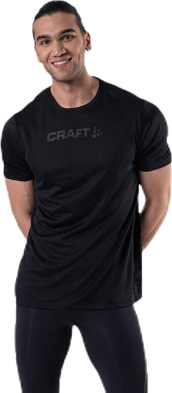 Core Essence SS Mesh Tee Black